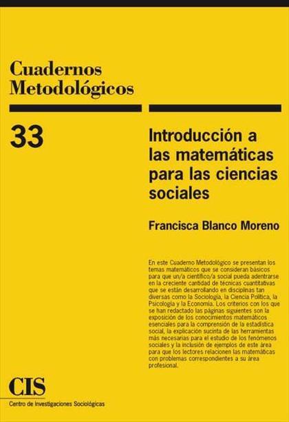 Introducción a las matemáticas para las Ciencias Sociales