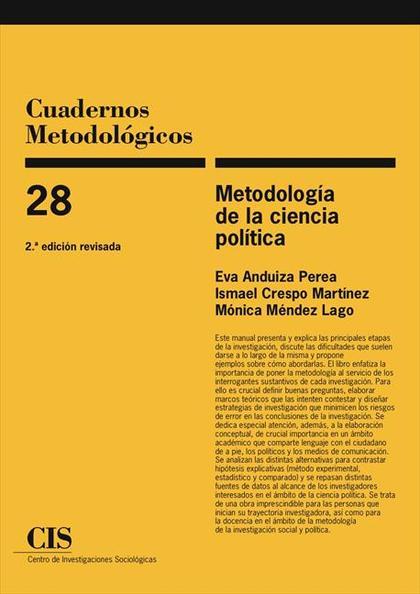 Metodología de la Ciencia Política  (Paperback - Jun 30, 2009)