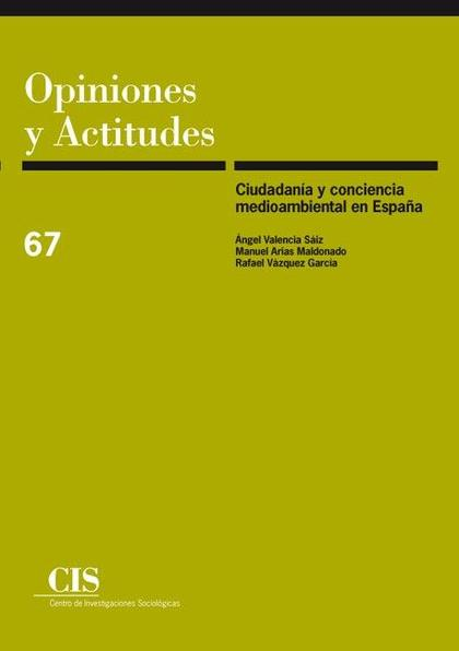 Ciudadanía y conciencia medioambiental en España
