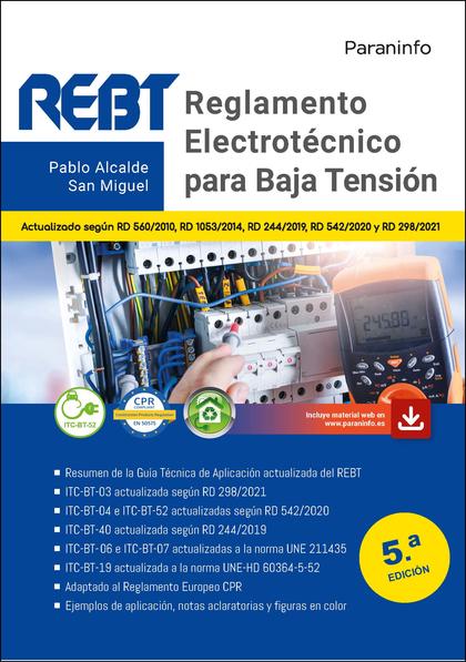 REGLAMENTO ELECTROTÉCNICO PARA BAJA TENSIÓN  5.ª EDICIÓN 2021.
