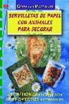SERVILLETAS DE PAPEL CON ANIMALES PARA DECORAR