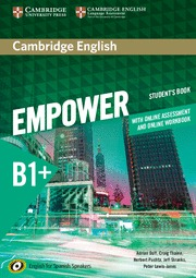 CAMBRIDGE ENGLISH EMPOWER FOR SPANISH SPEAKERS B1+ STUDENT´S BOOK WITH ONLINE AS.