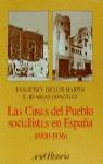 CASAS DEL PUEBLO SOCIALISTAS EN ESPAÑA 1900-1936