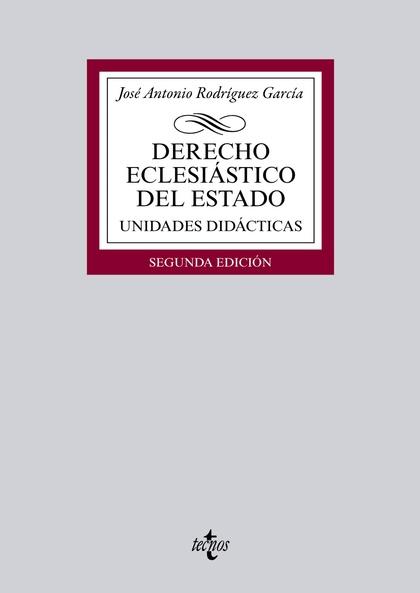 DERECHO ECLESIÁSTICO DEL ESTADO. UNIDADES DIDÁCTICAS