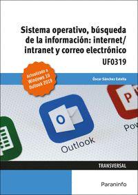 SISTEMA OPERATIVO, BÚSQUEDA DE LA INFORMACIÓN: INTERNET/INTRANET Y CORREO ELECTR.