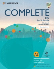 COMPLETE KEY FOR SCHOOLS WORKBOOK WITHOUT KEY WITH DOWNLOAD AUDIO SECOND EDITION.