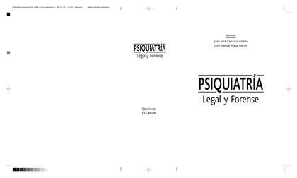 TRATADO DE PSIQUIATRÍA LEGAL Y FORENSE