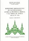 REPERTORIO BIBLIGRAFICO RELACIONES PENINSULA NORTE AFRICA