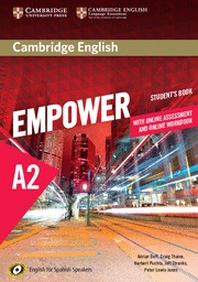 CAMBRIDGE ENGLISH EMPOWER FOR SPANISH SPEAKERS A2 STUDENT´S BOOK WITH ONLINE ASS.