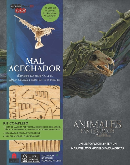 INCREDIBUILDS ANIMALES FANTÁSTICOS MAL ACECHADOR