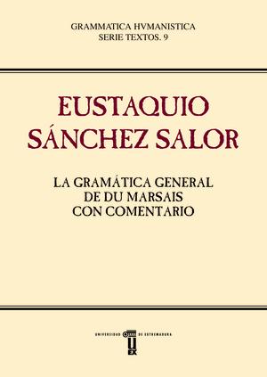 LA GRAMÁTICA GENERAL DE DU MARSAIS CON COMENTARIO