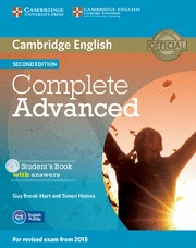 COMPLETE ADVANCED (2ND ED.) STUDENT´S BOOK WITH ANSWERS WITH CD-ROM