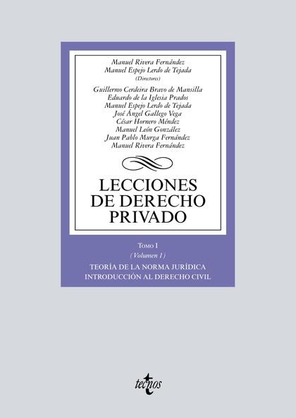 LECCIONES DE DERECHO PRIVADO. TOMO I (VOLUMEN 1)
