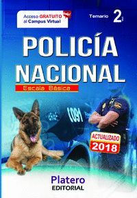 POLICÍA NACIONAL. ESCALA BÁSICA. TEMARIO. VOLUMEN II.