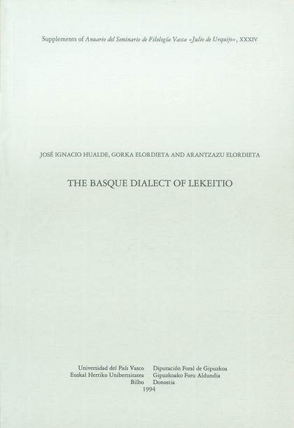 THE BASQUE DIALECT OF LEKEITIO