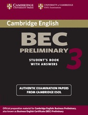 CAMBRIDGE BEC PRELIMINARY 3 ST KEY