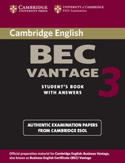 CAMBRIDGE BEC VANTAGE 3 SB KEY