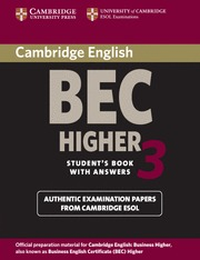 CAMBRIDGE BEC HIGHER 3 ST KEY