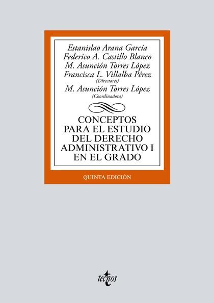CONCEPTOS PARA EL ESTUDIO DEL DERECHO ADMINISTRATIVO I EN EL GRADO.