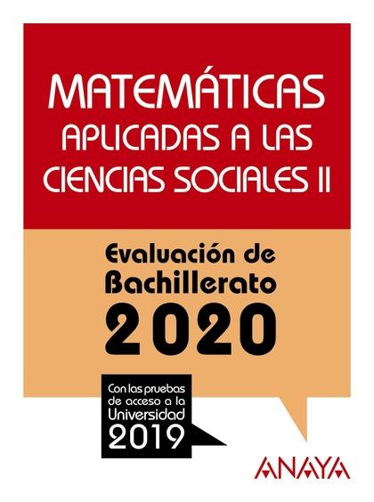 SELECTIVIDAD MATEMATICAS APLICADAS CC.SS II 2020.