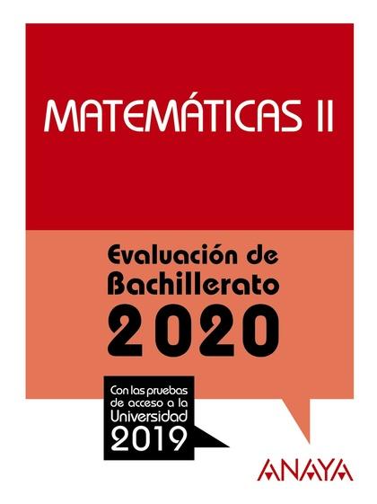 SELECTIVIDAD MATEMATICAS II 2020.