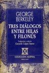 TRES DIALOGOS ENTRE HILAS Y FILONUS