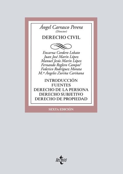 DERECHO CIVIL. INTRODUCCIÓN. FUENTES. DERECHO DE LA PERSONA. DERECHO SUBJETIVO. DERECHO DE PROP