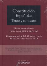CONSTITUCIÓN ESPAÑOLA: (DÚO). TEXTO Y CONTEXTO