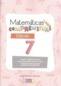 MATEMATICAS COMPRENSIVAS. CALCULO 7.