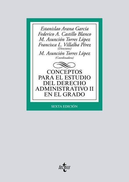 CONCEPTOS PARA EL ESTUDIO DEL DERECHO ADMINISTRATIVO II EN EL GRADO.