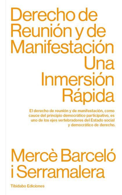 DERECHO DE REUNIÓN Y DE MANIFESTACIÓN. UNA INMERSIÓN RÁPIDA