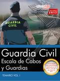 GUARDIA CIVIL. ESCALA DE CABOS Y GUARDIAS. TEMARIO VOL. I.