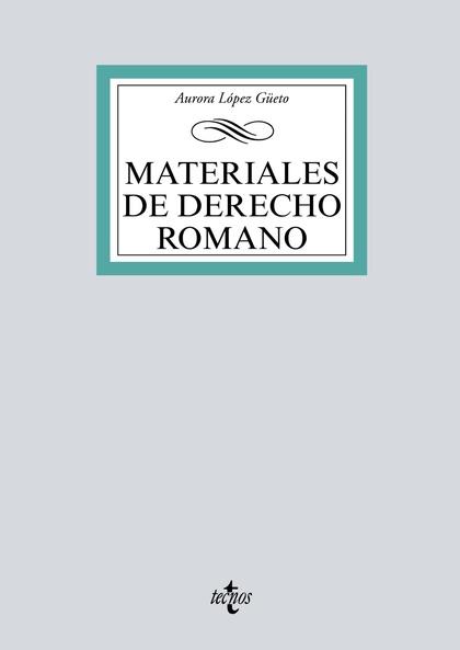 MATERIALES DE DERECHO ROMANO.