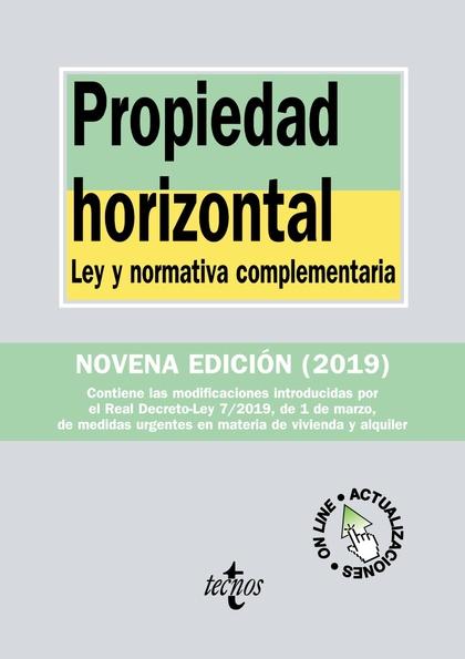 PROPIEDAD HORIZONTAL                                                            LEY Y NORMATIVA