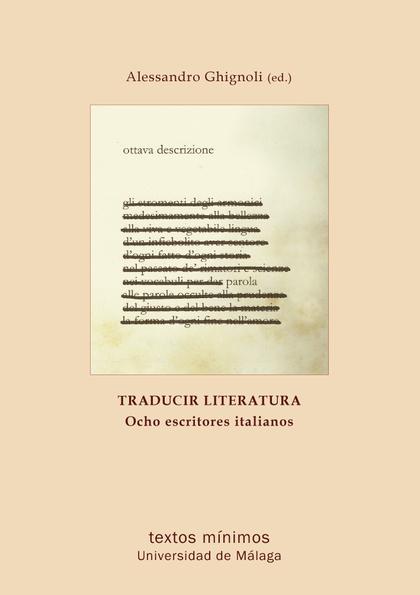 TRADUCIR LITERATURA : OCHO AUTORES ITALIANOS