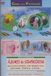ÁLBUMES DE SCRAPBOOKING PERSONALIZADOS CON PEGATINAS, BOTONES, FIELTRO, CINTAS--