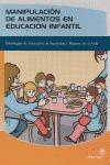 MANIPULACIÓN DE ALIMENTOS EN EDUCACIÓN INFANTIL: ESTRATEGIAS DE ACTUAC