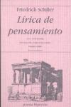 LÍRICA DE PENSAMIENTO. UNA ANTOLOGÍA