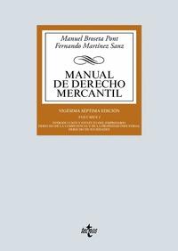MANUAL DE DERECHO MERCANTIL.