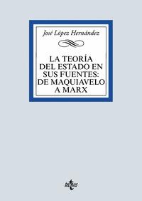 LA TEORÍA DEL ESTADO EN SUS FUENTES: DE MAQUIAVELO A MARX.
