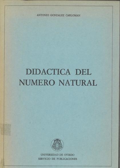 DIDÁCTICA DEL NÚMERO NATURAL
