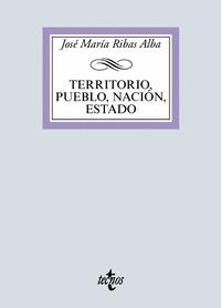 TERRITORIO, PUEBLO, NACIÓN, ESTADO.