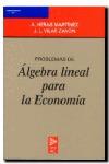PROBLEMAS ALGEBRA LINEAL ECONOMIA