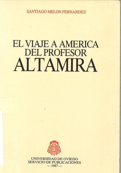VIAJE AMERICA PROFESOR ALTAMIRA