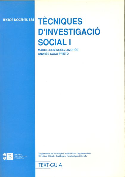 TÈCNIQUES D´INVESTIGACIÓ SOCIAL I