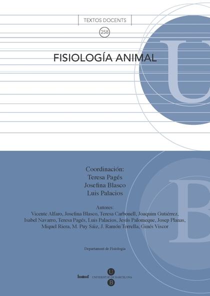 FISIOLOGÍA ANIMAL.