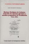 MARIANO RODRÍGUEZ DE LEDESMA: COLECCIÓN DE CUARENTA EJERCICIOS O ESTUD