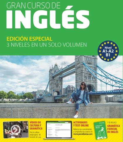 GRAN CURSO DE INGLÉS (A1-A2-B1) 4 LIBROS + 6 CDS+ 1 DVD