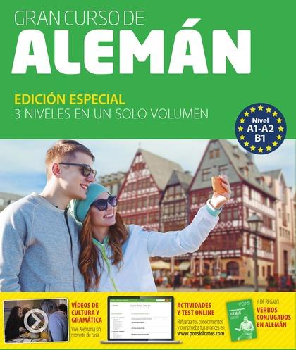 GRAN CURSO PONS. ALEMÁN (A1-A2-B1). INCLUYE 4 LIBROS, 4 CD Y UN DVD.