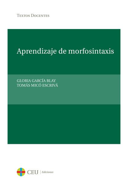 APRENDIZAJE DE MORFOSINTAXIS